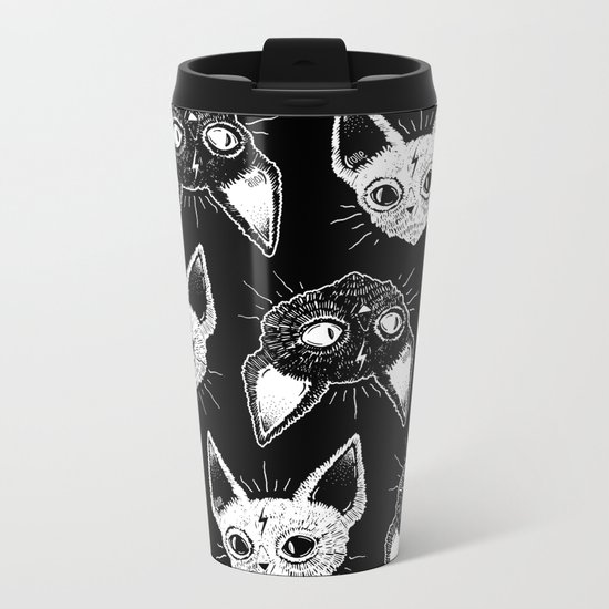 Kittens (Black Version) Metal Travel Mug