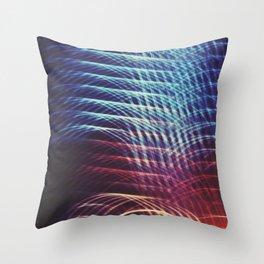 Camera Toss Light Abstract Throw Pillow