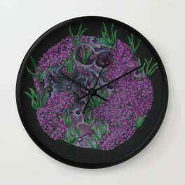 Pink Full Moon (April) Wall Clock
