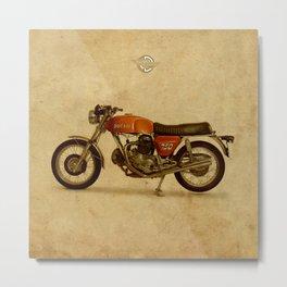 Vintage old motorcycle 750GT 1971 vintage background Metal Print