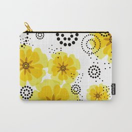 PEPPER POPPIES | yellow Carry-All Pouch