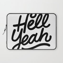 hell yeah X typography Laptop Sleeve