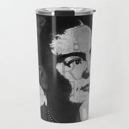 Frida Kahlo B&W Travel Mug