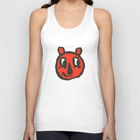 randy c Tank Tops featuring Red Randy White Eyes by BlackCatTips