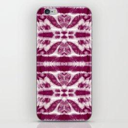 Tie-Dye Burgundy Twos iPhone Skin