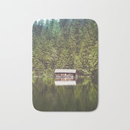 Cottage in the Forest (Color) Bath Mat