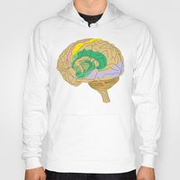 brain Hoodies featuring Brain by FACTORIE