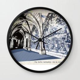 Porto post card Wall Clock