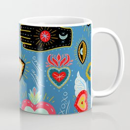 Milagro love hearts - blue Coffee Mug