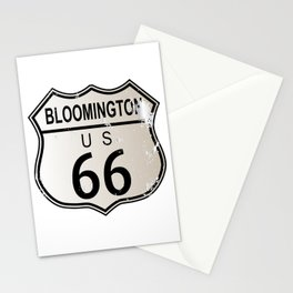 Bloomington Route 66 Stationery Cards