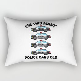 I'm This Many Police Cars Old 4 Birthday Rectangular Pillow