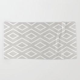 Stitch Diamond Tribal Print in Grey Beach Towel