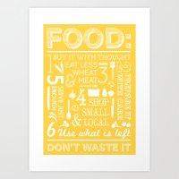 Food - mustard Art Print