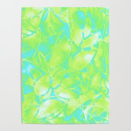 Grunge Art Floral Abstract G170 Poster