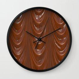 Decadent drapery,brown Wall Clock