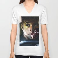 drive V-neck T-shirts featuring Drive by Jordan Grimmer