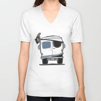 booty V-neck T-shirts featuring The Booty Wagon by Brandon Ortwein
