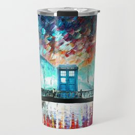 Tardis With Beautiful Starry Night Travel Mug