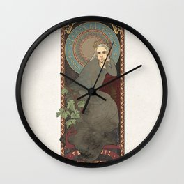 Art Nouveau Thranduil the Elven King Wall Clock
