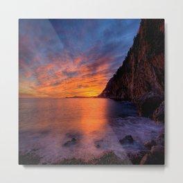Mala Beach Sunset French Riviera Metal Print