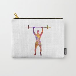 body buiding man isolated Carry-All Pouch