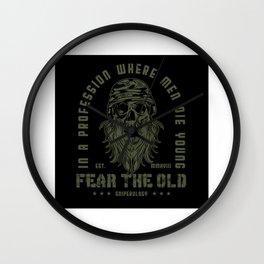 Guns - Fear The Old Man Design Motif Wall Clock