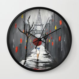 """Nuit Orageuse à Paris"" Wall Clock"