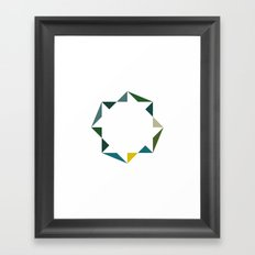 #400 And it goes round and round – Geometry Daily Framed Art Print