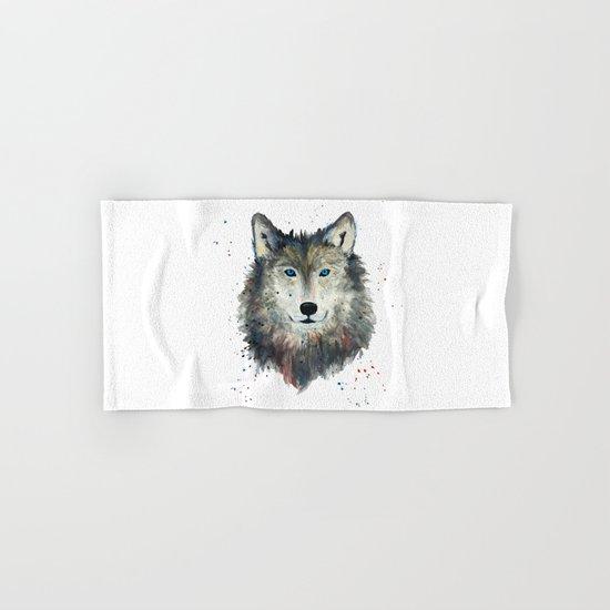 Wolf Hand & Bath Towel