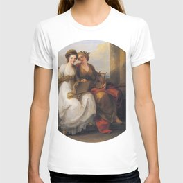 Angelica Kauffmann - The Artist in the Character of Design Listening to the Inspiration of Poetry T-shirt