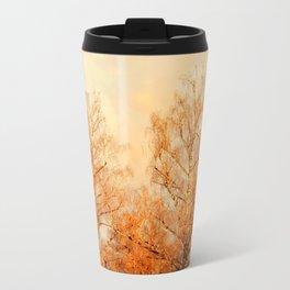 TREES AT SUNSET 2 Metal Travel Mug