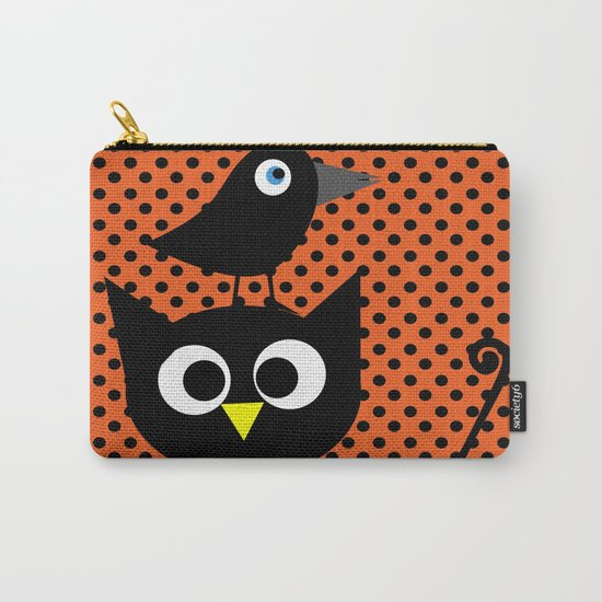 Black cat and raven Carry-All Pouch