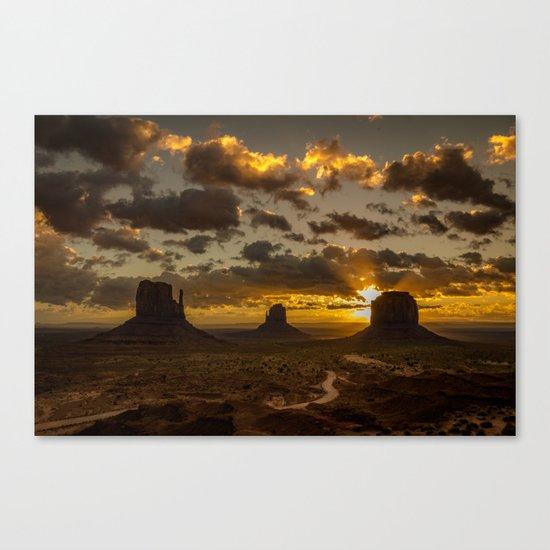 Monument Valley - Vivid Sunrise Canvas Print