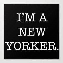NEW YORKER Canvas Print