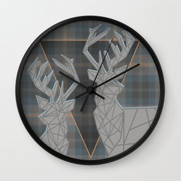 TARTAN MY DEER Wall Clock