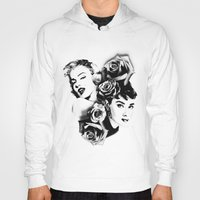 marylin monroe Hoodies featuring Marylin Monroe and Audrey Hepburn by The Völva Countess