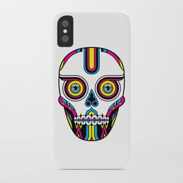 CMYK Skull iPhone Case