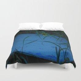 So Blue Bench Duvet Cover