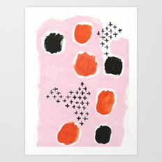 Uma - abstract minimal modern painting dorm college hipster trendy pastel painterly brushstrokes art Art Print