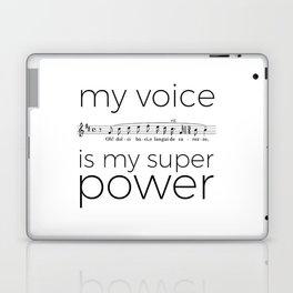 My voice is my super power (tenor, white version) Laptop & iPad Skin