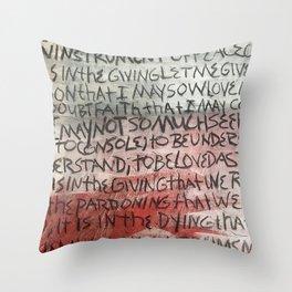 make me an instrument of peace Throw Pillow