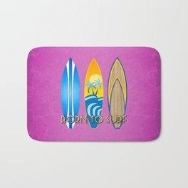 Pink Born To Surf Bath Mat