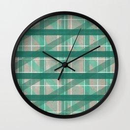 Turquoise Mermaid Plaid Wall Clock