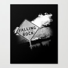 Falling (in love) Rocks Canvas Print