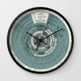 Cold War Radiation Detector Clock Wall Clock