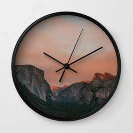Yosemite National Park Sunset Wall Clock