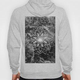 Star Mandala on Enigmatic Black Marble #1 #decor #art #society6 Hoody