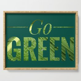 Go Green! Logo Serving Tray