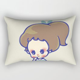 why are you smiling? Rectangular Pillow