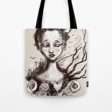 Scatter Heart Tote Bag